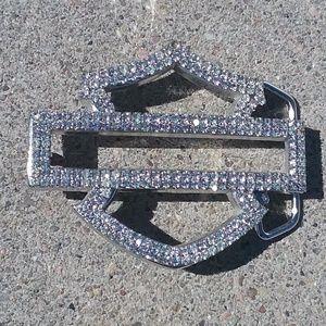 Harley Davidson Belt Buckle. Bling, Bling, Bling